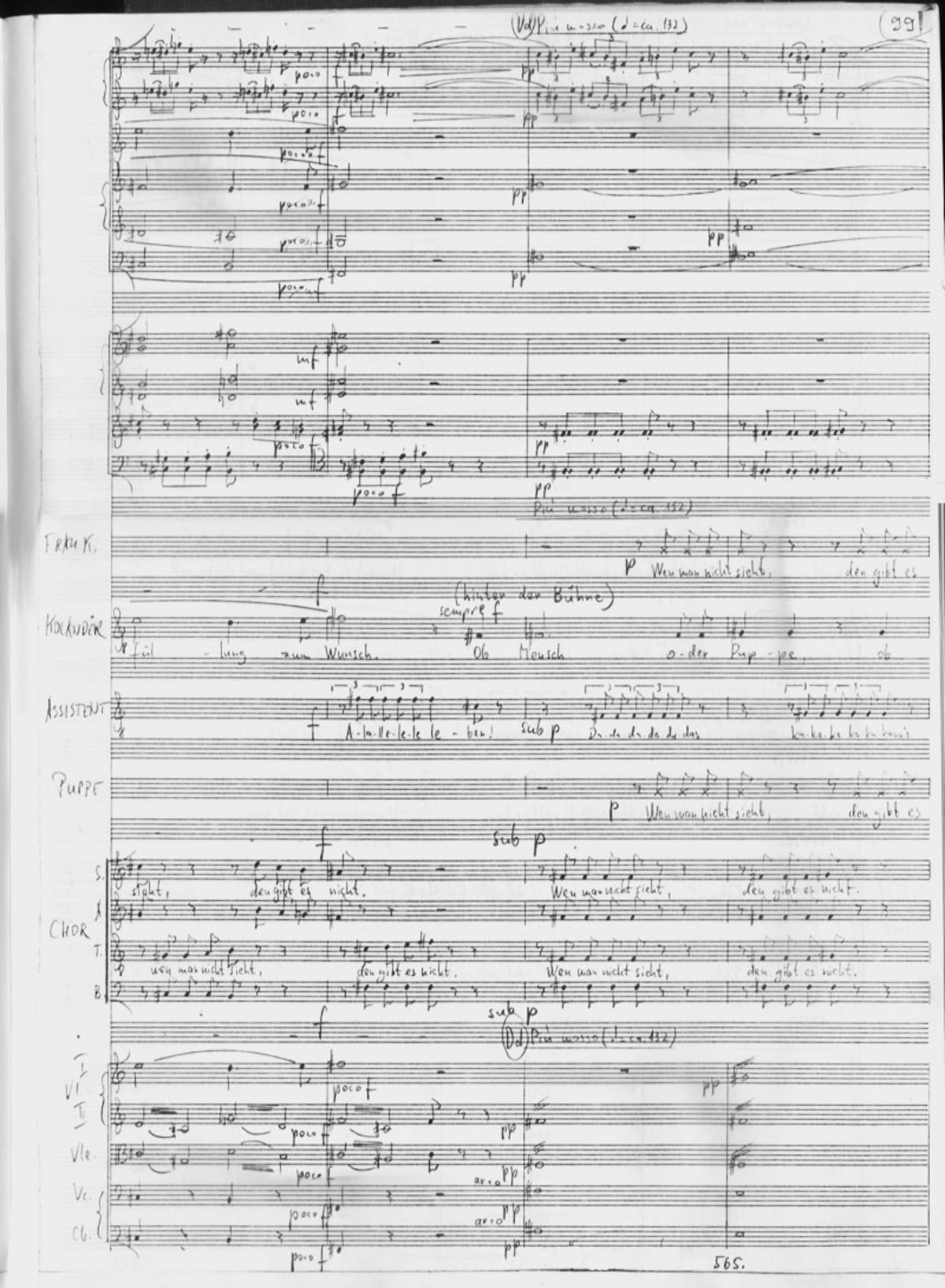 Ivan Eröd, Manuskript - Orpheus ex machina Op. 25 / © Iván Eröd