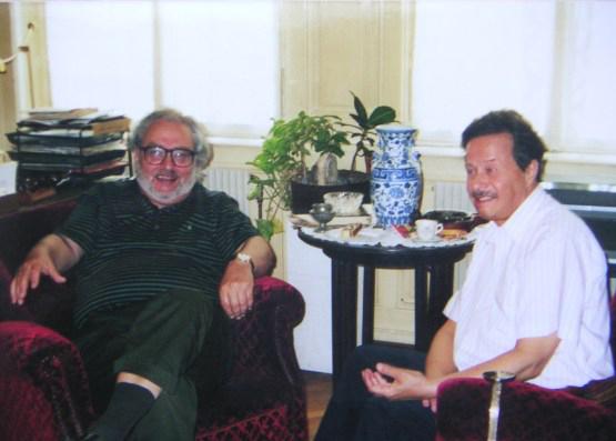 Mit Richard Bletschacher in Eröds Arbeitszimmer / © Photo: Marie-Luce Eröd, Archiv Eröd.