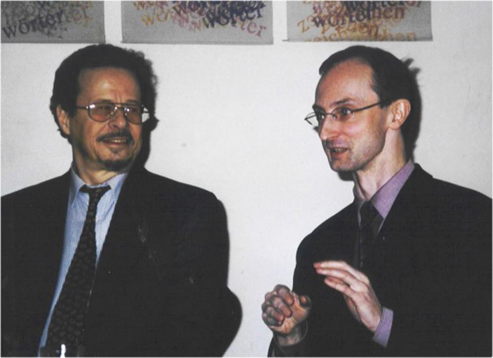 Ivan Eröd mit Christian Heindl, 2002 / © Photo: Marie-Luce Eröd, Archiv Eröd