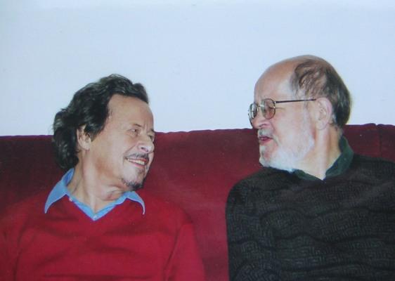 Ivan Eröd mit Nicholas Maw, in Eröds Wohnung / © Photo: Marie-Luce Eröd, Archiv Eröd