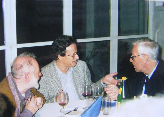 Ivan Eröd mit Kurt Schwertsik und István Zelenka / © Photo: Marie-Luce Eröd, Archiv Eröd