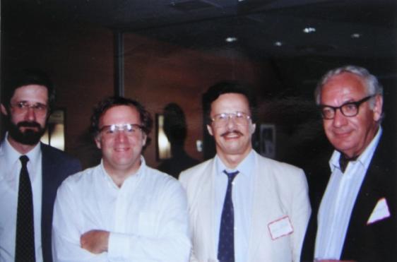 Steven Stucky, Leonard Slatkin, Iván Eröd und Dominic Argento / © Photo: Marie-Luce Eröd, Archiv Eröd