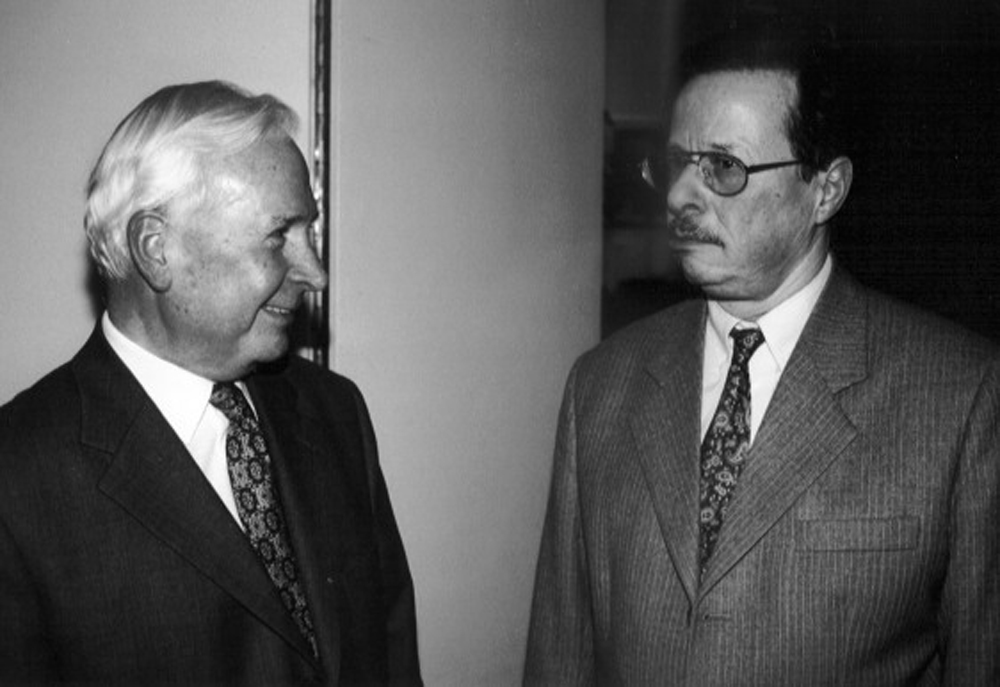 Ivan Eröd mit Prof. Dr. Herbert Vogg / © Photo: Marie-Luce Eröd, Archiv Eröd